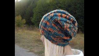 getlinkyoutube.com-Шапка спицами.  Универсальная &Cap knitting needle. Universal.