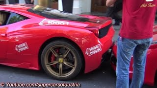 getlinkyoutube.com-Woman crashes her Ferrari 458 Speciale into a Ferrari 458 Spider