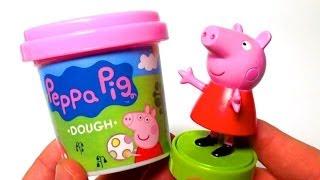 getlinkyoutube.com-Peppa Pig Play Doh playdough plastilina by lababymusica