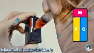 getlinkyoutube.com-How to Refill Lexmark 1, 2, 33, 35, 37A, 37XLA, 15A, 41A, 43XL & 5A Colour Ink Cartridges