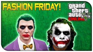 getlinkyoutube.com-GTA 5 Online - FASHION FRIDAY! (The Joker, Zombie, Slade Wilson & More) [GTA V Cool Outifts]