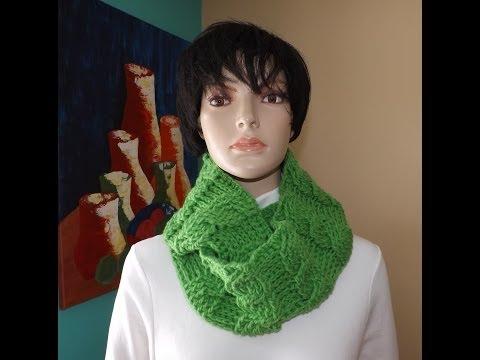 Crochet Bufanda Circular De Trenzas