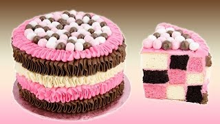 getlinkyoutube.com-Checkerboard Neapolitan Cake Recipe from Cookies Cupcakes and Cardio