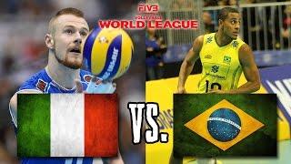 getlinkyoutube.com-Italy vs  Brazil FIVB World League Finals Group 1 FULL MATCH BREAKS REMOVED