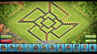"getlinkyoutube.com-Clash of Clans: Best Farming Base HDV9/TH9 #3 ""The Shuriken"""