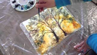 getlinkyoutube.com-How to: Batik Style watercolor painting technique with Kozo Washi