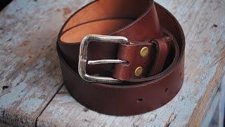 getlinkyoutube.com-Работа с кожей.  Ремень своими руками. Handmade leather belt