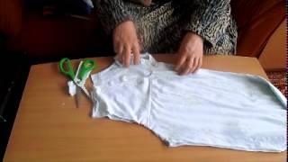 getlinkyoutube.com-تفصيل فانيله نسائيه , Englisch translation Cutting a woman cotton flannel