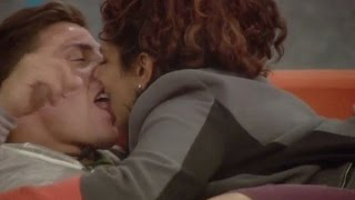 Sam and Marc have a late night kiss and get steamy in bed