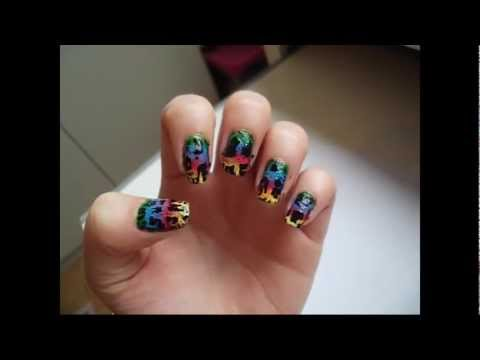 Nail Art Tutorial 29  Rainbow Crakle
