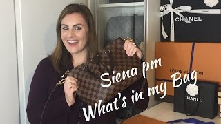 getlinkyoutube.com-Louis Vuitton Siena pm What's in my Bag