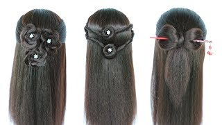 3 cute hairstyles for girls || braided hairstyles || new hairstyle || easy hairstyles || hairstyle