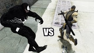 getlinkyoutube.com-VENOM VS SCORPION (Mortal Kombat) - GREAT BATTLE - GTA IV