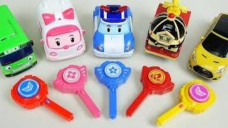 getlinkyoutube.com-Robocar Poli car toys key cars Tobot CarBot Tayo bus play