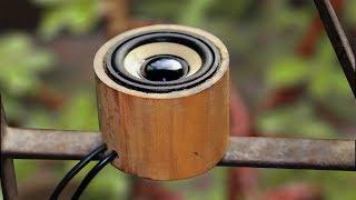 How to make a mini Speaker Using Bamboo width=