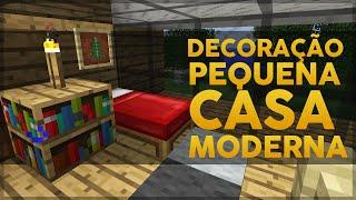 getlinkyoutube.com-Minecraft: Decoração da Pequena Casa Moderna 3