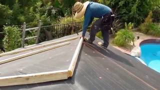 getlinkyoutube.com-How to: Installing a tile roof , simple and easy , yet beautiful results.