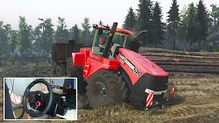 getlinkyoutube.com-Farming-Spin Tires CASE IH Quadtrac 620 Traktörü Karşınızda! / Logitech DFGT