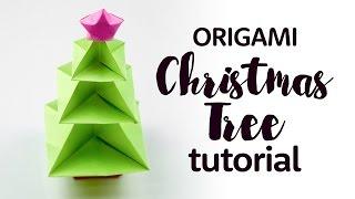 getlinkyoutube.com-Origami Christmas Tree Tutorial 🎄 DIY 🎄 Paper Kawaii