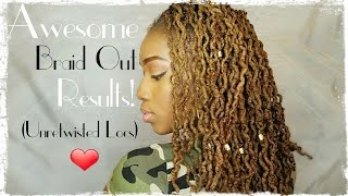 getlinkyoutube.com-Awesome Locs Braid Out Results & Random Questions Tag! (Unretwisted locs)