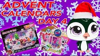 getlinkyoutube.com-ADVENT CALENDAR DAY #4 || Trolls, Monster High, Disney Tsum Tsum, LPS, MLP, Star Wars 2016 Unboxing