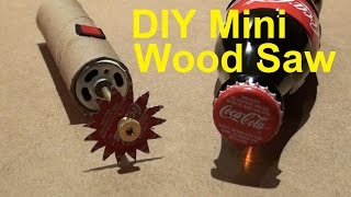 getlinkyoutube.com-DIY How to Make a Powerful  Mini Dremel  Wood Saw at home