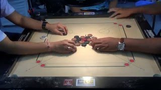 getlinkyoutube.com-Sandeep Deorukhkar vs Ryaz Akbarali in Carrom ICF Cup Delhi 2015, Swiss System