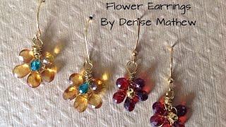 getlinkyoutube.com-How to Make Gemstone Flower Earrings by Denise Mathew