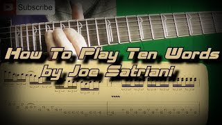 getlinkyoutube.com-How to Play Joe Satriani - Ten Words Как играть, Guitar Lesson (Part 2)