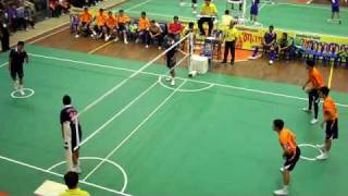 getlinkyoutube.com-Sepak Takraw Game in  Thai(-17 age, man final)