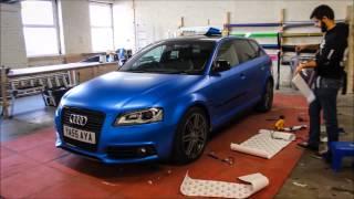 Audi A3 Satin Perfect Blue Re-wrap