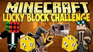 getlinkyoutube.com-Minecraft - Lucky Block Challenge - Ep.2 : Il Dinosauro Monello!