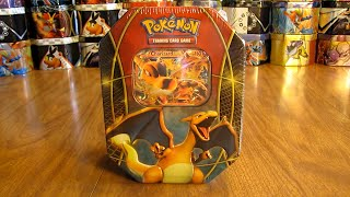 getlinkyoutube.com-Pokemon Charizard EX Tin Opening