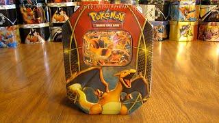 Pokemon Charizard EX Tin Opening