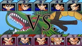 getlinkyoutube.com-Dragon Ball Z Budokai Tenkaichi 3: Team Goku vs Team Vegeta Duel!