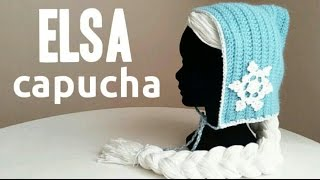 getlinkyoutube.com-Capucha Inspirada en Elsa FROZEN a Crochet (todas las tallas) | how to crochet ELSA inspired hood