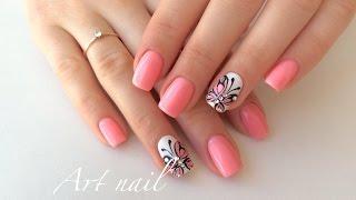 getlinkyoutube.com-Бабочки На Ногтях! Дизайн Ногтей Гель-Лаком! Art Nail Designs (Butterfly on nails)