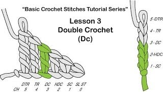 """getlinkyoutube.com-Learn To Crochet~Lesson 3 of 6 of My """"Basic Crochet Stitches Series"""""""