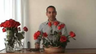 getlinkyoutube.com-arreglo de rosas - como hacer un bonito arreglo floral
