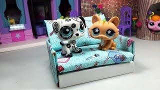 getlinkyoutube.com-How to Make a Tiny LPS Sofa Couch ♦ Dollhouse Furniture: Easy Doll DIY