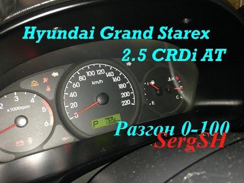 Hyundai Grand Starex 2.5 CRDi Разгон 0-100 км