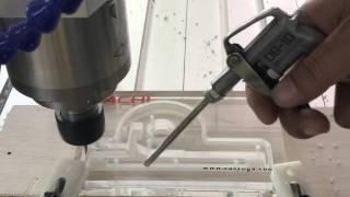 getlinkyoutube.com-ChinaCNCzone Acylic CNC 6040 Mini Engraving Machine for 15 5mm Thick Acrylic Engraving