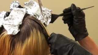 getlinkyoutube.com-HOW TO COLOR WOMENS HAIR // Star Panel Hair Color // Weave