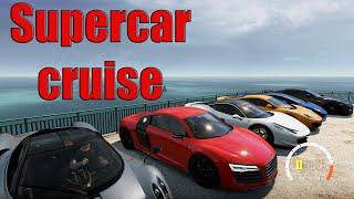 getlinkyoutube.com-Forza Horizon 2- SUPERCAR Cruise (458, R8, Huracan, 12C + more)