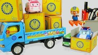 getlinkyoutube.com-Surprise box car toys Robocar Poli Tayo bus Pororo