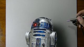 getlinkyoutube.com-R2-D2 | Star Wars | Drawing #2 + funny ending