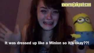 getlinkyoutube.com-Girl hates Minions like CRAZY!