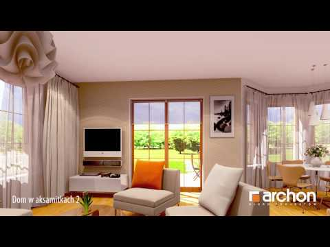 Dom w aksamitkach 2- Wirtualny spacer po wnętrzu. ARCHON+