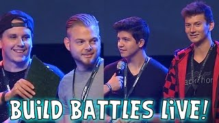 Minecon 2015 - Build Battles LIVE! iBallisticSquid & AshDubh VS Bajan Canadian & Preston Playz