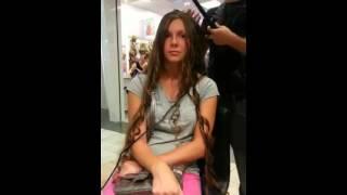 getlinkyoutube.com-Curling girls hair that goes to her ankles. HerStyler Grande....